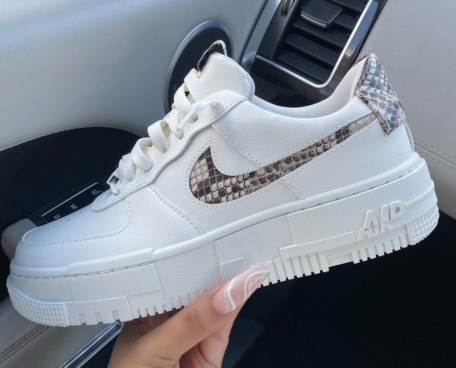 Nike Air Force One Pixel peau de serpent (4)