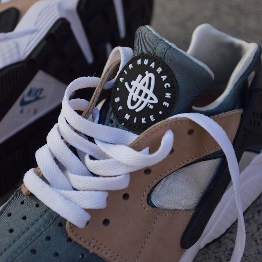 Nike Air Huarache Run beige marron et bleue (1)