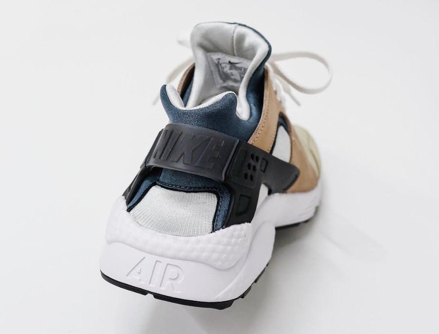 Nike Air Huarache Run beige marron et bleue (3)