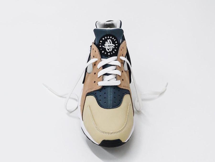 Nike Air Huarache Run beige marron et bleue (4)