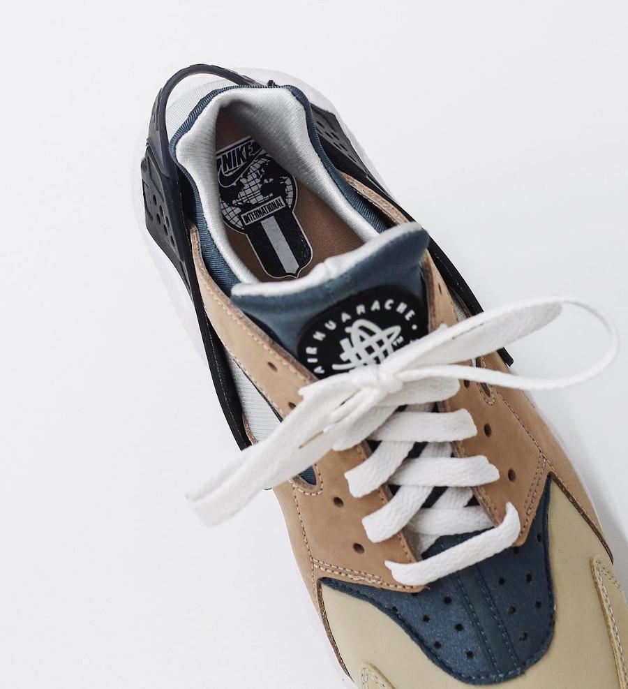 Nike Air Huarache Run beige marron et bleue (5)