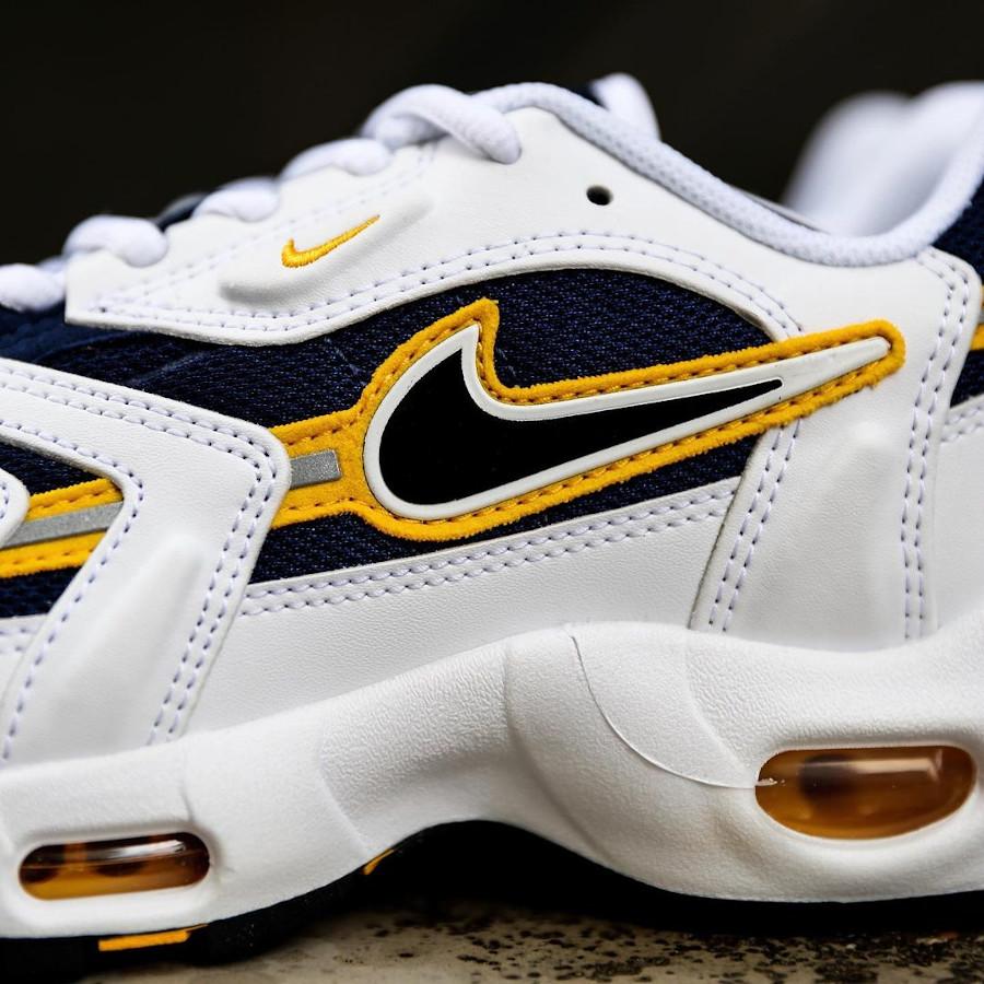 Nike Air Max 97 SS blanche bleu marine et jaune (4)