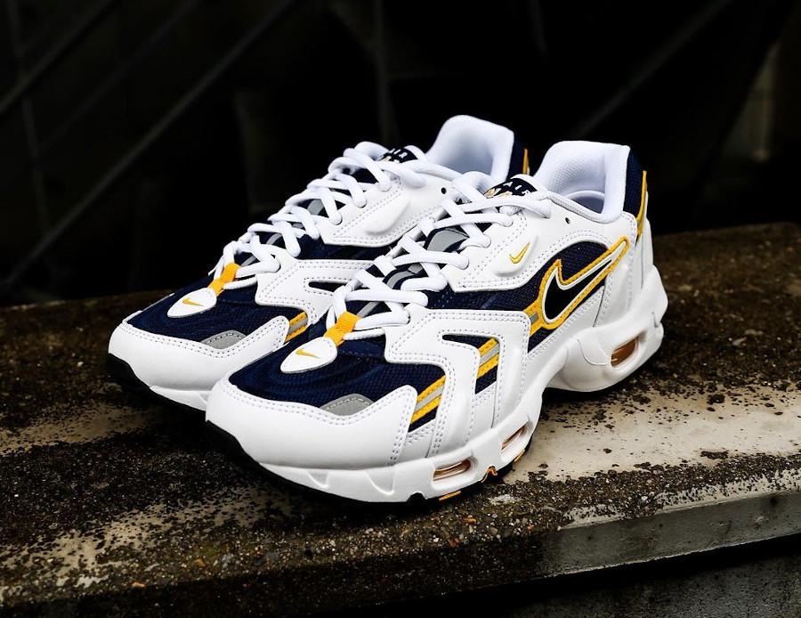 Nike Air Max 97 SS blanche bleu marine et jaune (5)