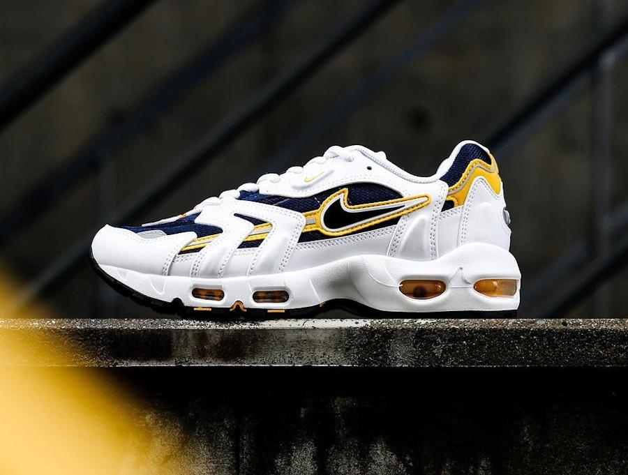 Nike Air Max 97 SS blanche bleu marine et jaune (6)