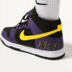 Nike Dunk High Premium Embossed 'Lakers' Court Purple