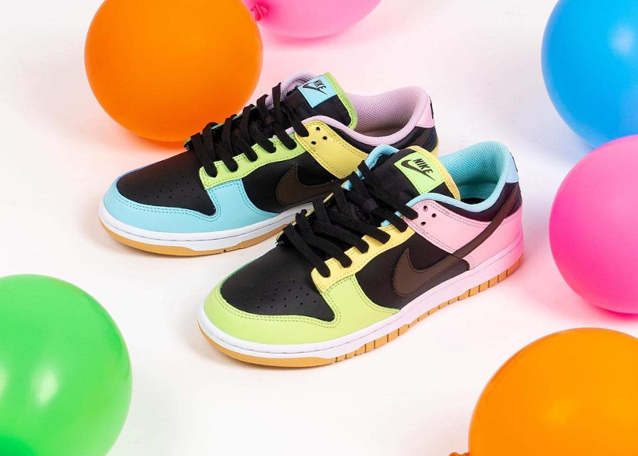 Nike Dunk Low Free99 multicolore (4)