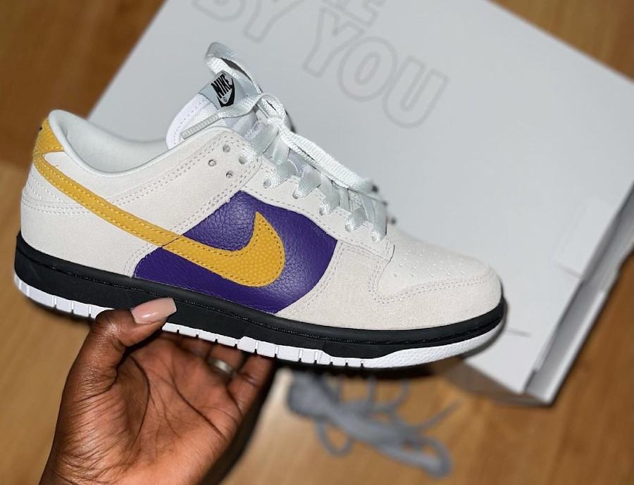 Nike Dunk Low by You Lakers yoursneakerqueen_