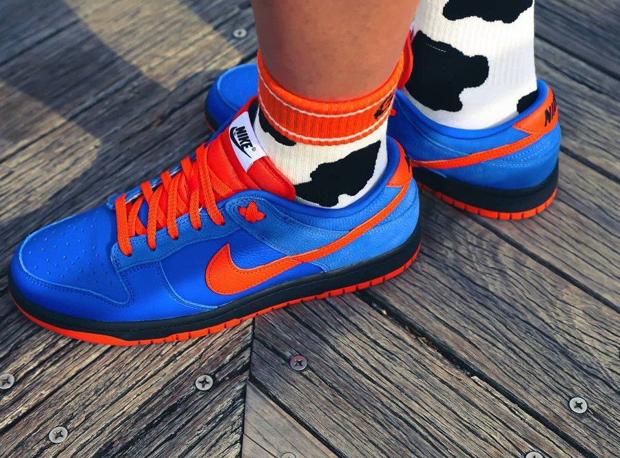 Nike Dunk Low by You Orange Bue @goodwayofficial