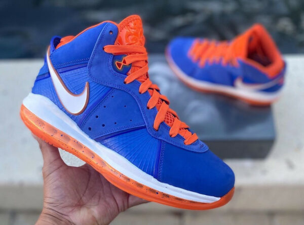 Nike Lebron 8 Blue Orange HWC Hardwood Classic 2021 CV1750-400