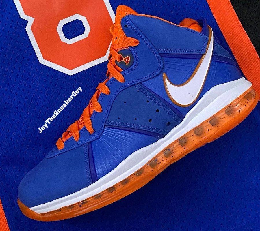Nike Lebron 8 High bleu royal Knicks (1)