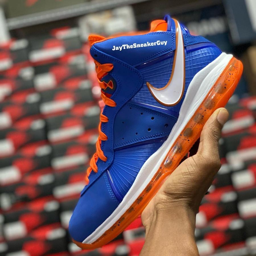 Nike Lebron 8 High bleu royal Knicks (2)