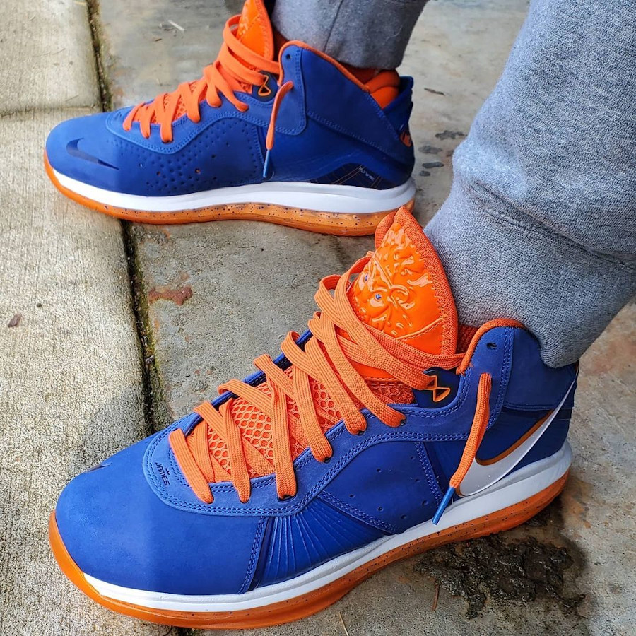 Nike Lebron 8 High bleu royal Knicks (3)