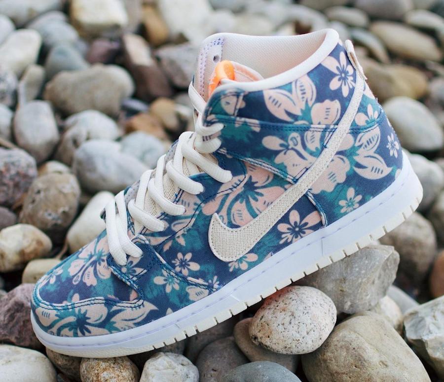 Nike SB Dunk High Pro Aloha fleurs hawaiiennes (1)