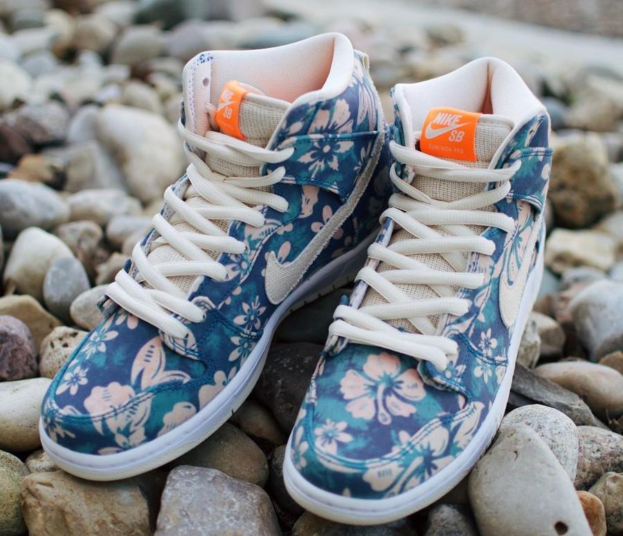 Nike SB Dunk High Pro Aloha fleurs hawaiiennes (6)