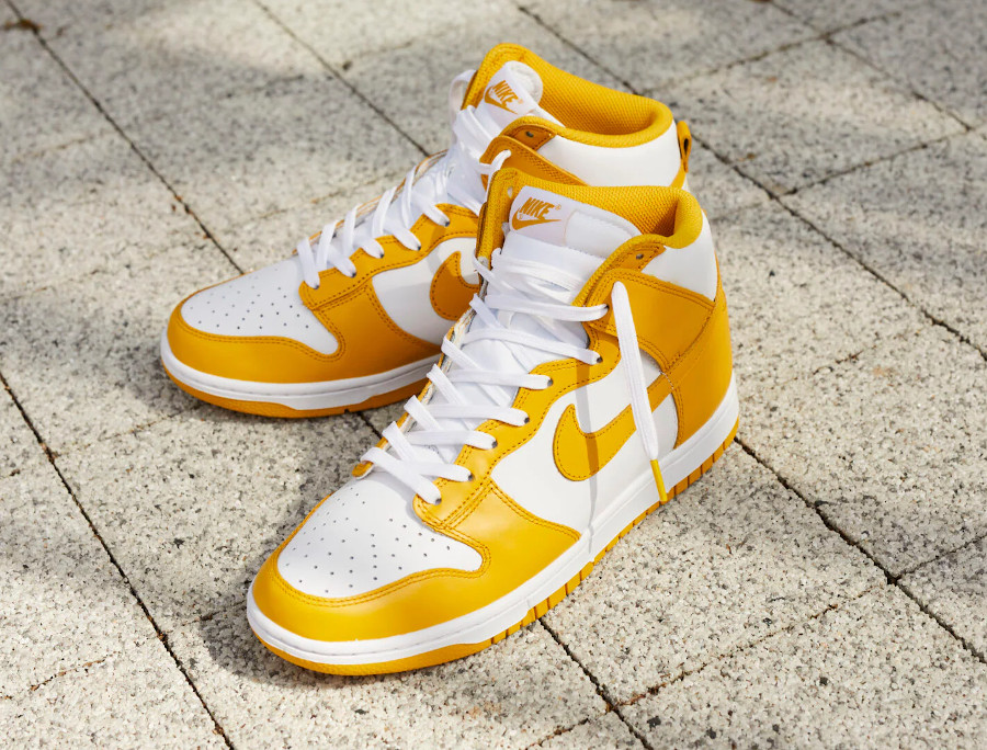 Nike W Dunk High Dark Sulfur (jaune) 2021 DD1869-106