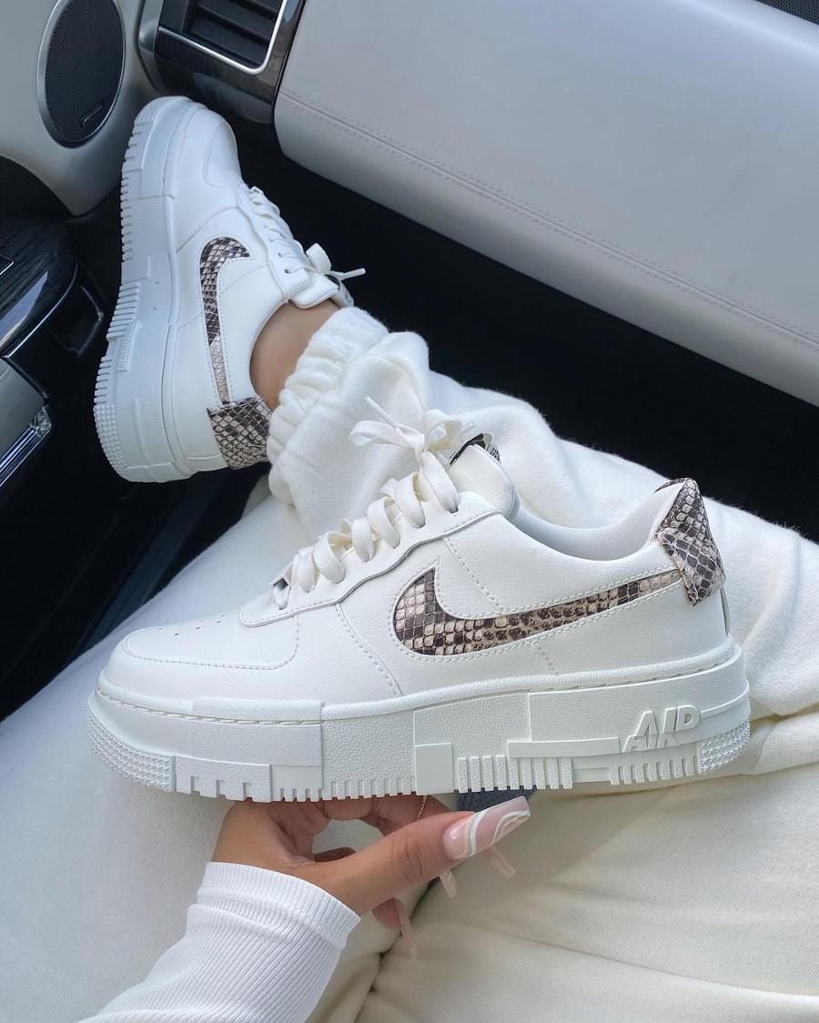 Nike Wmns Air Force 1 AF1 Pixel SE Snakeskin CV8481-101
