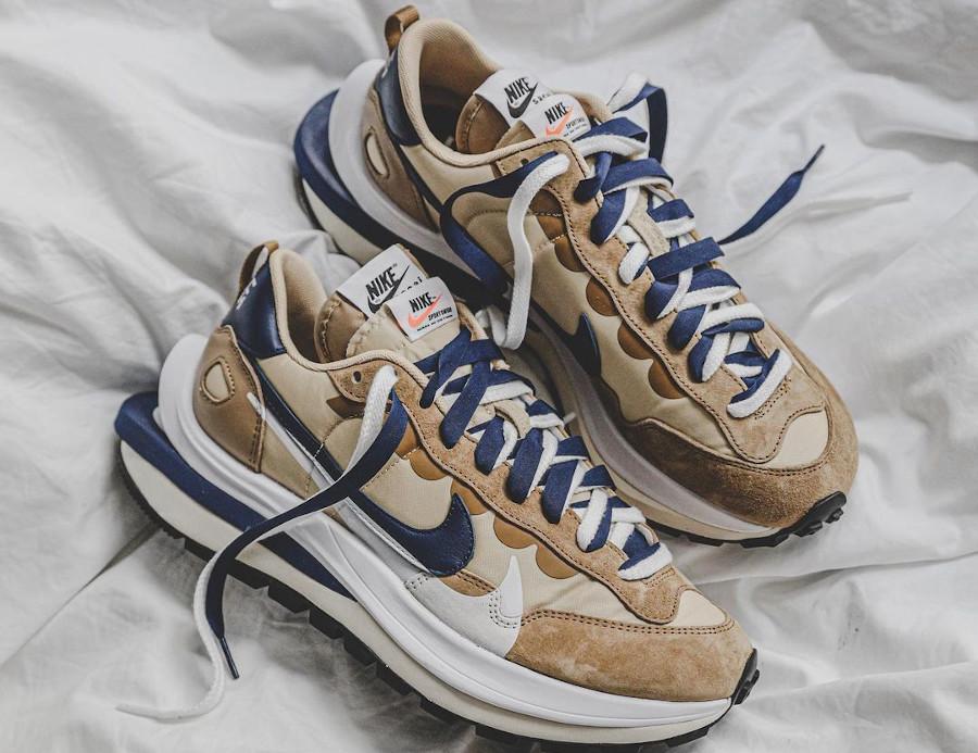 Nike x Sacai VaporWaffle Sesame Blue Void DD1875-200