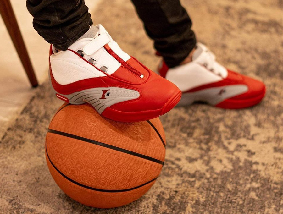 Reebok Answer 4 blanche rouge et grise (5)