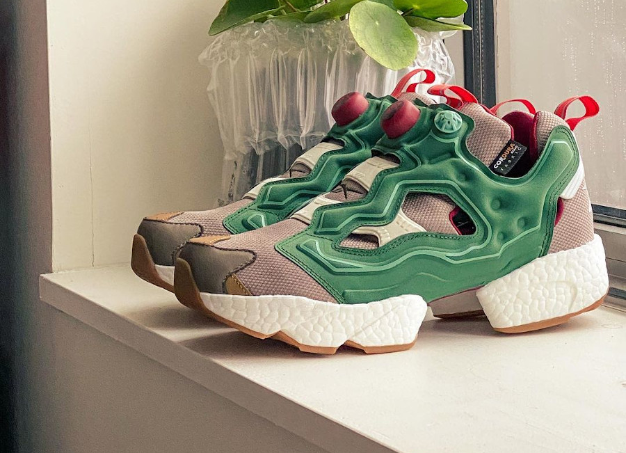 Reebok Instapump Fury Boost Pine Green Boulder Grey Triathalon Red GZ5363 (1)