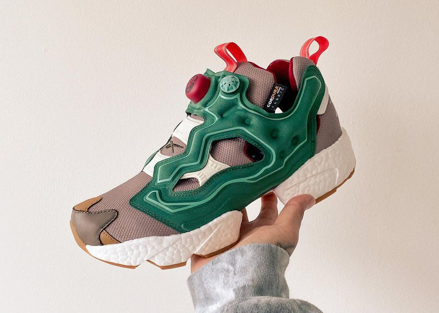 Reebok Instapump Fury Boost Pine Green Boulder Grey Triathalon Red GZ5363 (2)