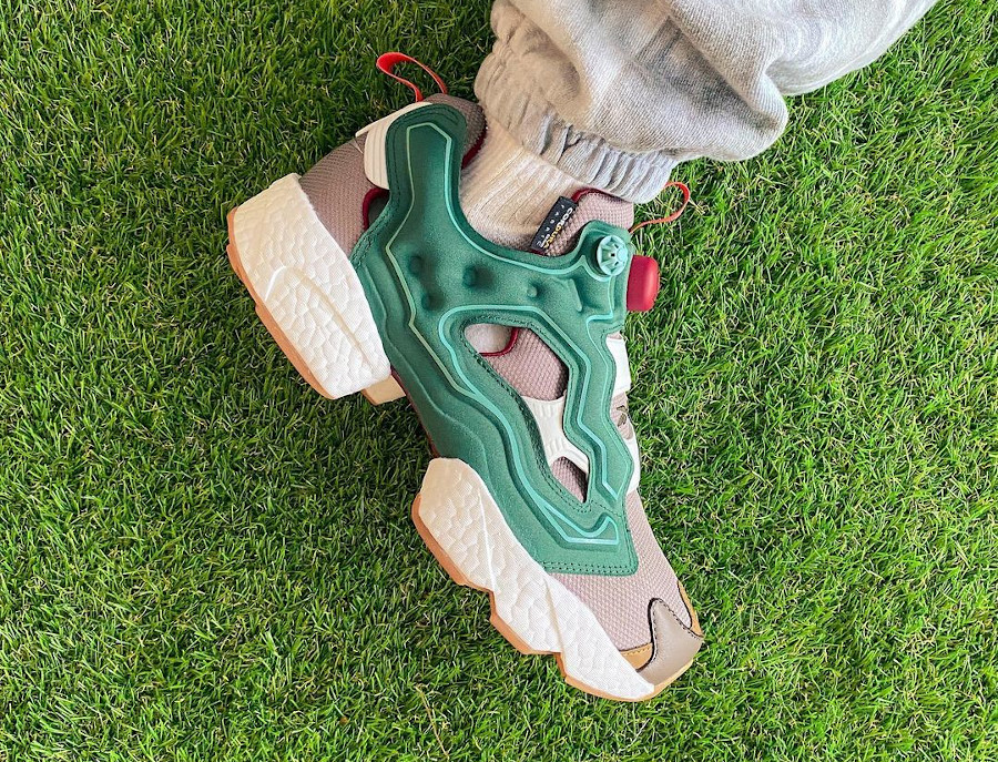 Reebok Instapump Fury Boost Pine Green Boulder Grey Triathalon Red GZ5363 (4)