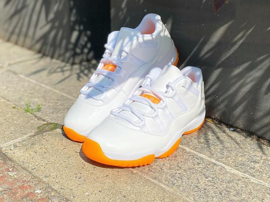 AJ11 Low blanche et orange (1)