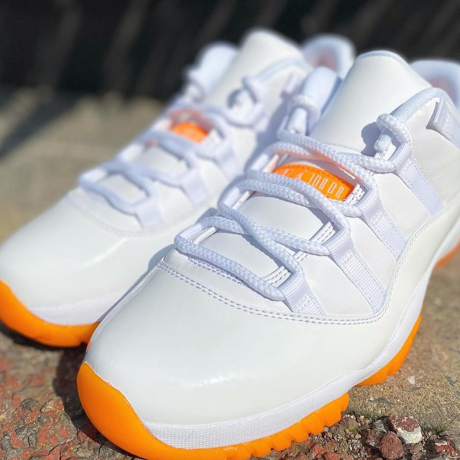 AJ11 Low blanche et orange (4)