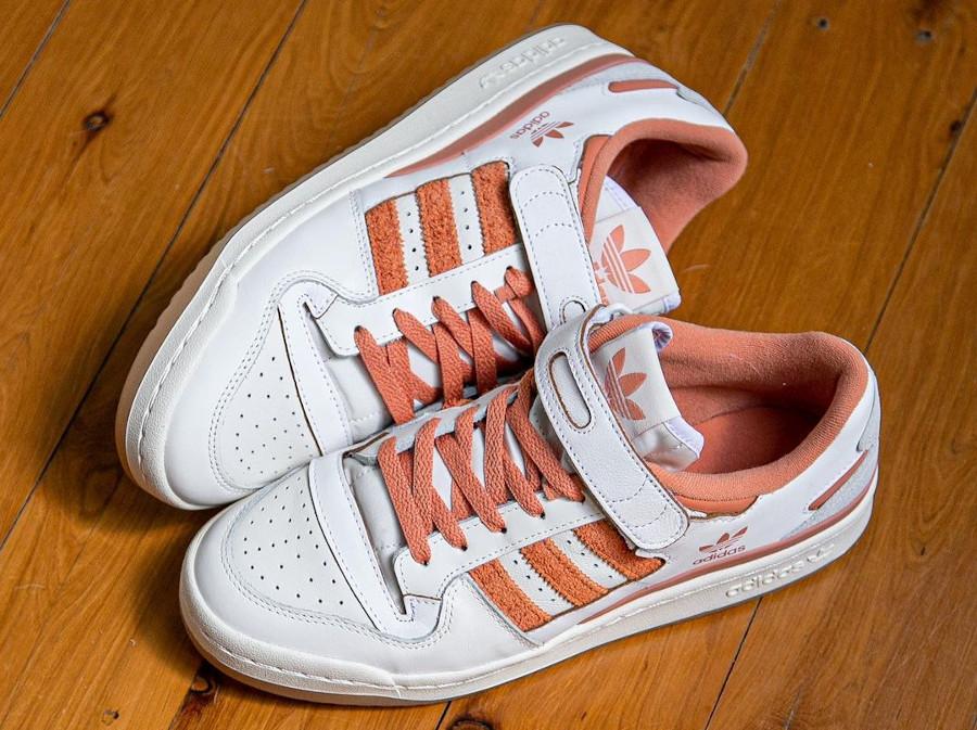 Adidas Forum Lo blanche et orange (1)