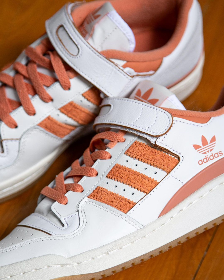 Adidas Forum Lo blanche et orange (2)