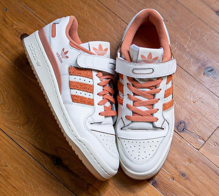 Adidas Forum Lo blanche et orange (3)