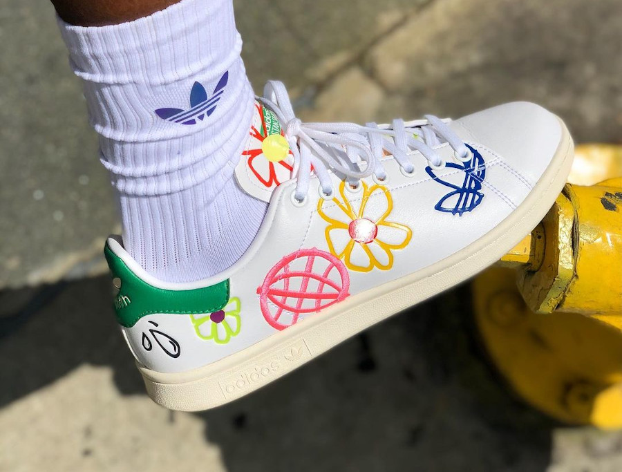 Adidas Stan Smith femme Primegreen Floral FX5653