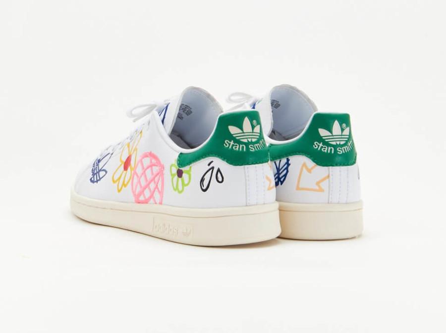 Adidas Stan Smith recyclée à fleurs (4)