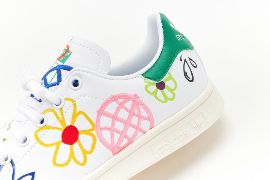 Adidas Stan Smith recyclée à fleurs (6)