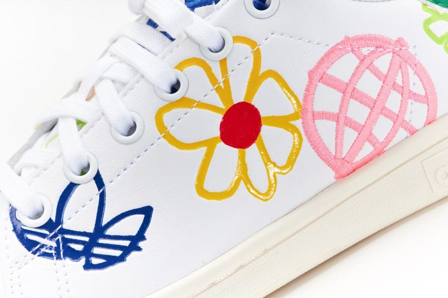 Adidas Stan Smith recyclée à fleurs (8)