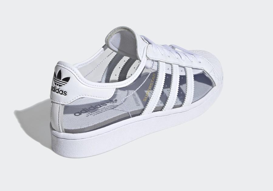 Adidas Superstar blanche en plastique transparent (3)
