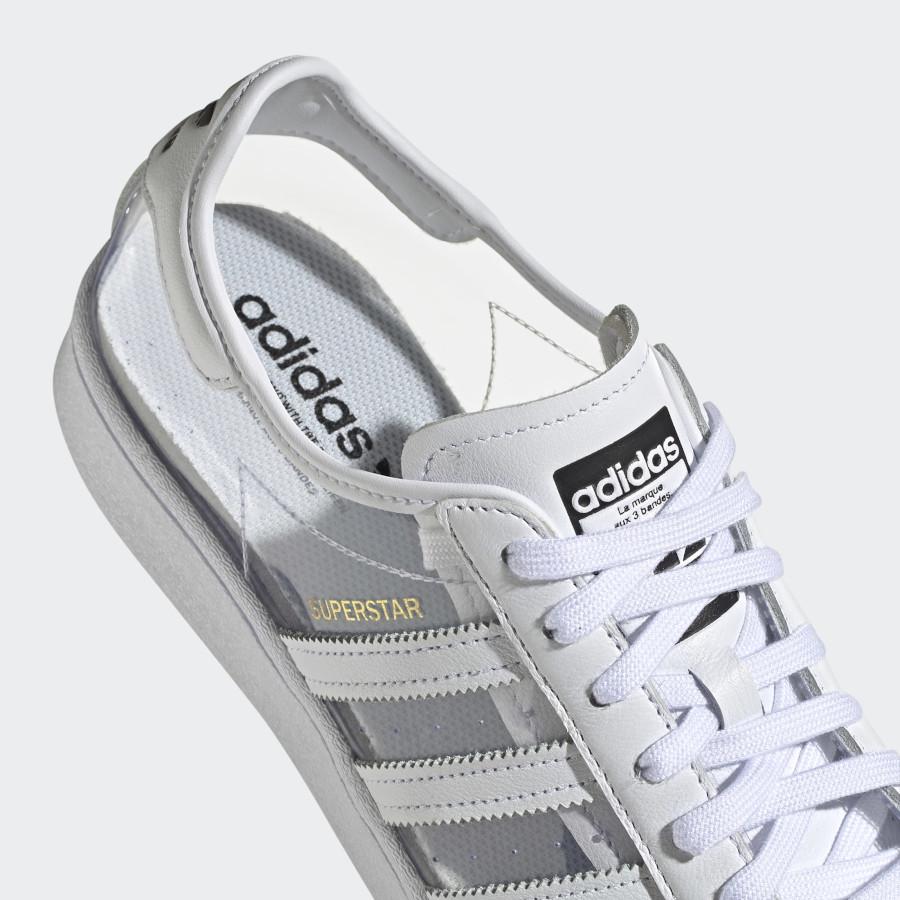Adidas Superstar blanche en plastique transparent (4)