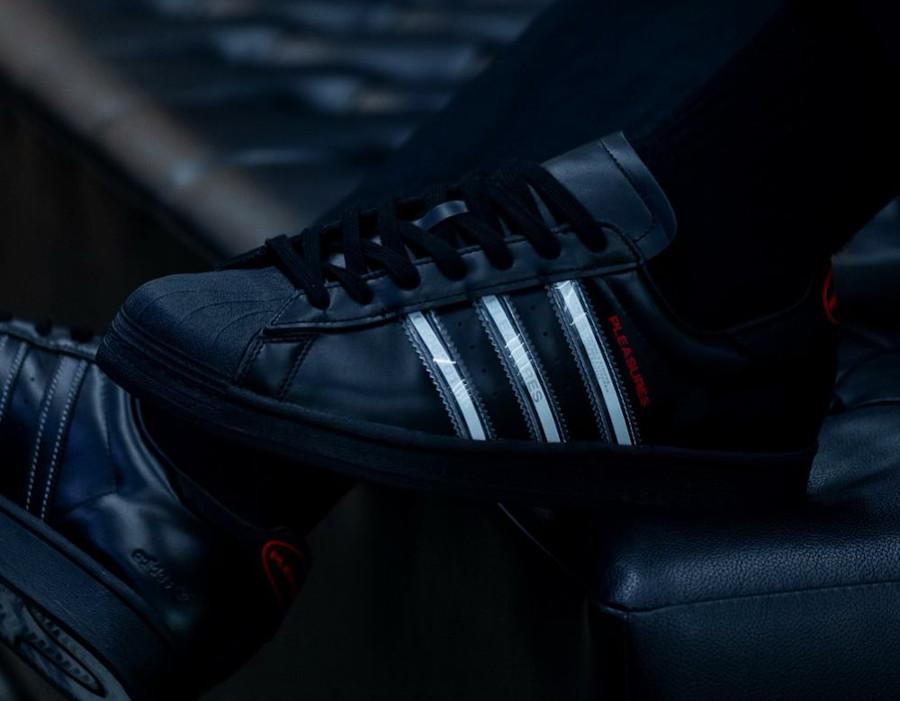 Adidas Superstar noir removable stripes (1)