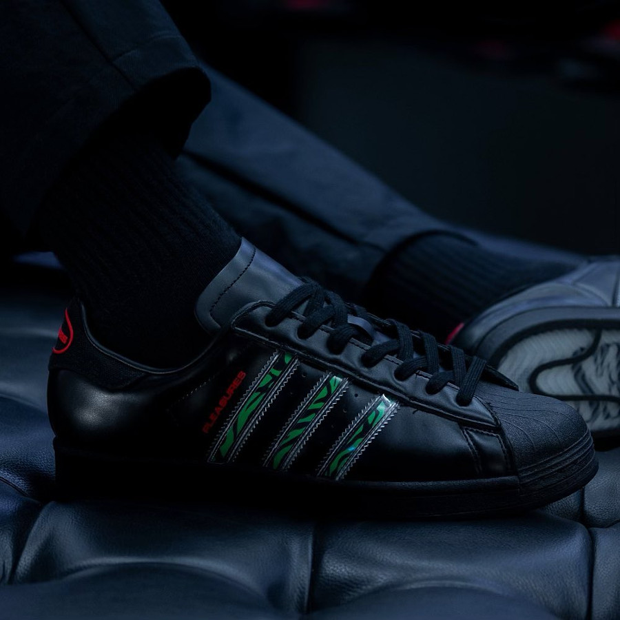 Adidas Superstar noir removable stripes (3)