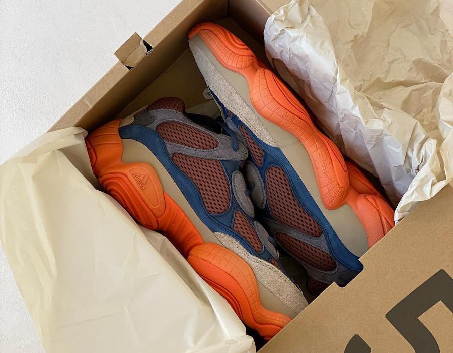 Adidas Yezzi 500 Enflame on feet (1)