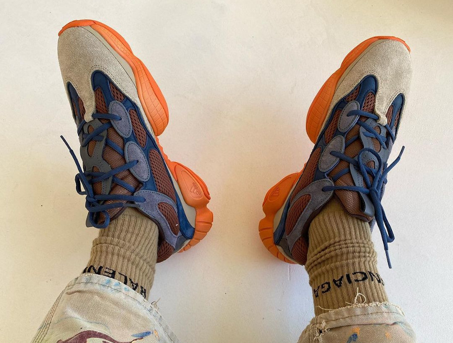 Adidas Yezzi 500 Enflame on feet (2)