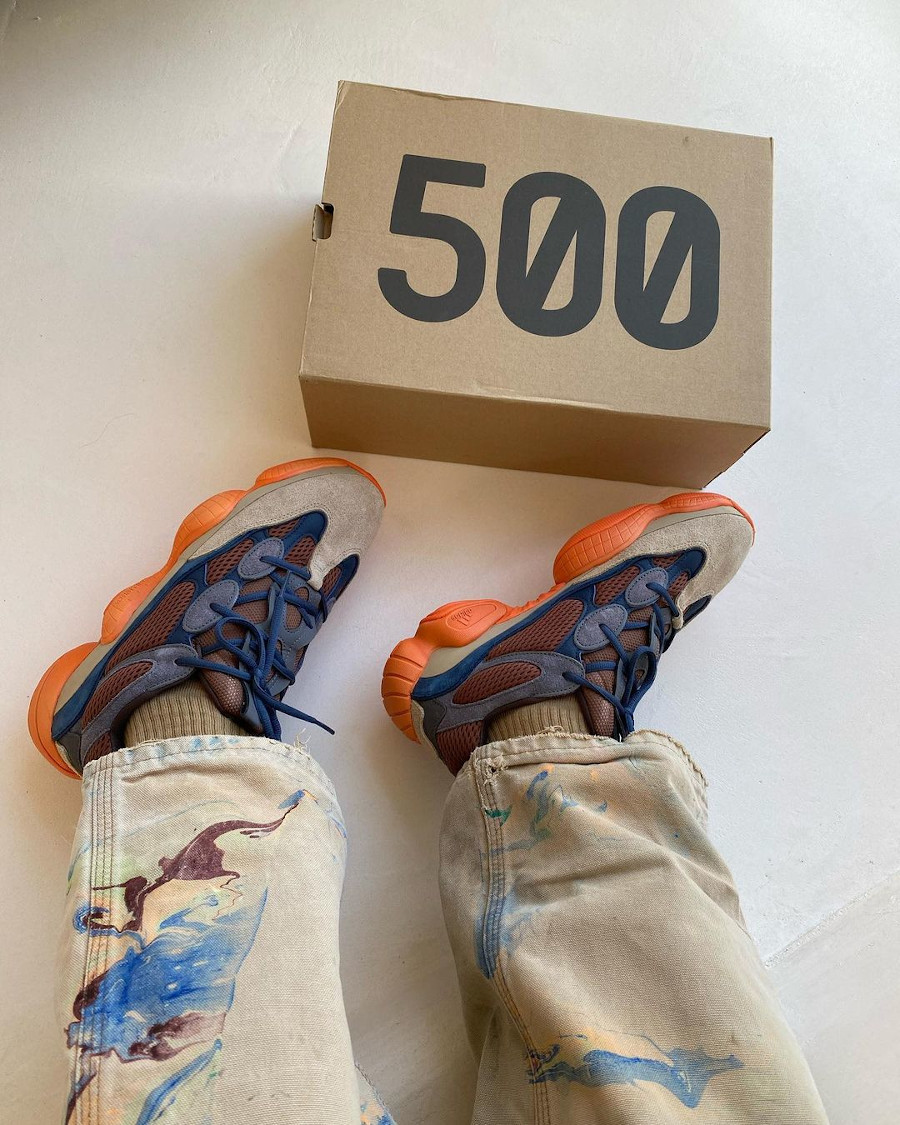 Adidas Yezzi 500 Enflame on feet (3)