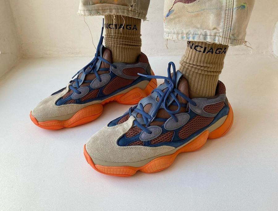 Adidas Yezzi 500 Enflame on feet (5)