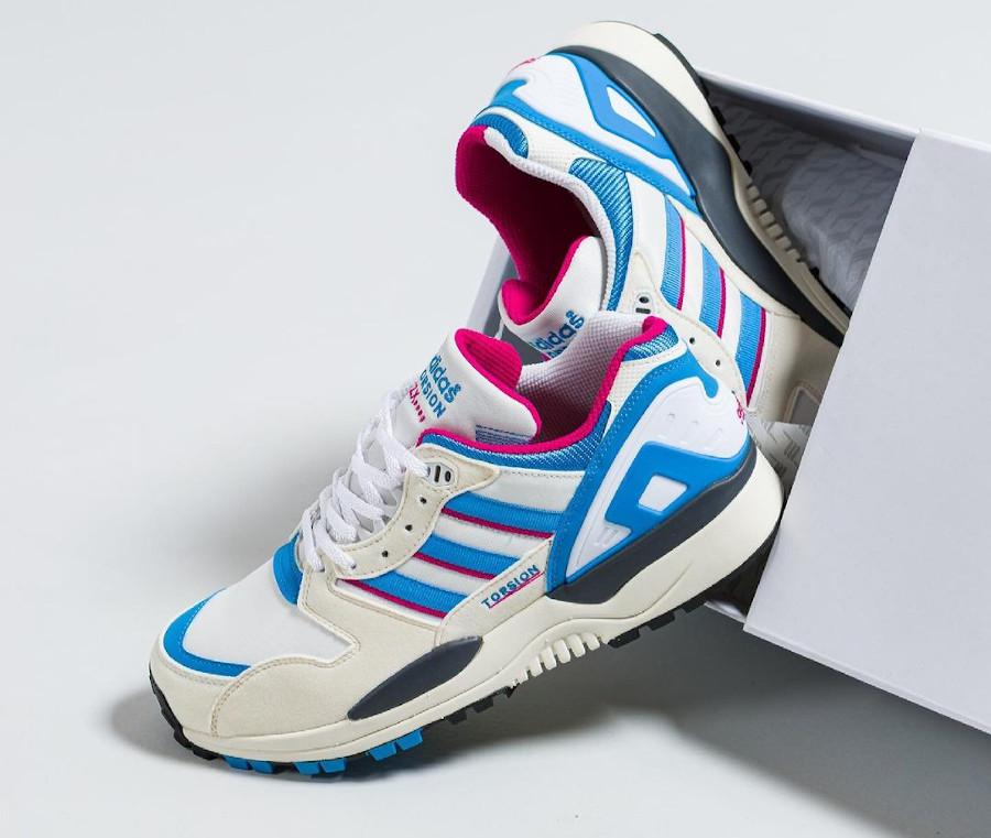 Adidas ZX 0000 blanche bleue et rose (1)
