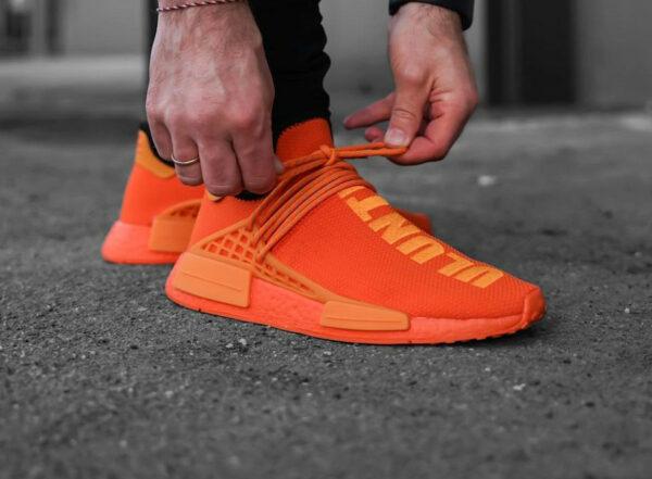 Adidas x Pharrell NMD HU Bright Orange Uluntu GY0095