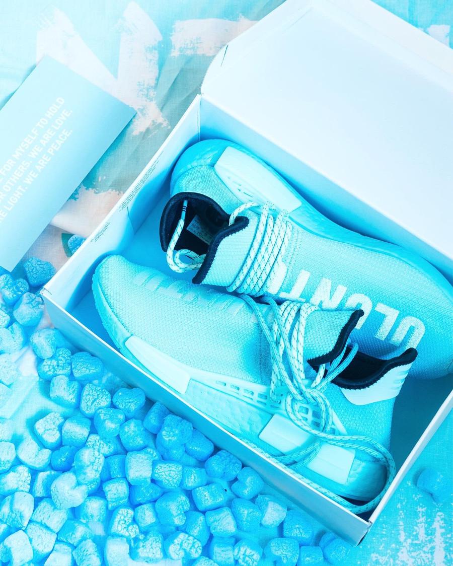 Adidas x Pharrell NMD HU Clear Aqua Uluntu GY0094