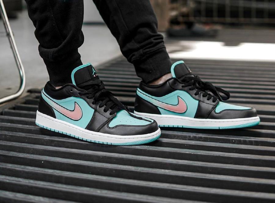 Air Jordan 1 Low Diamond Supply on feet (2)