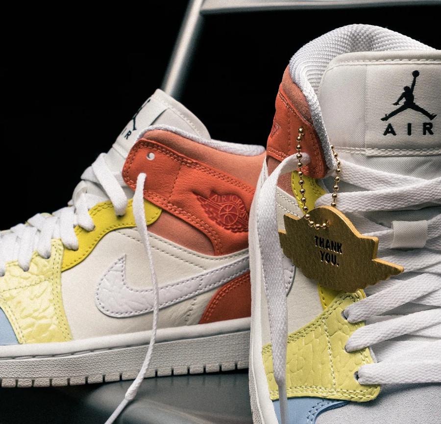 Air Jordan 1 Mid Sail White Light Zitron Opti Yellow (3)