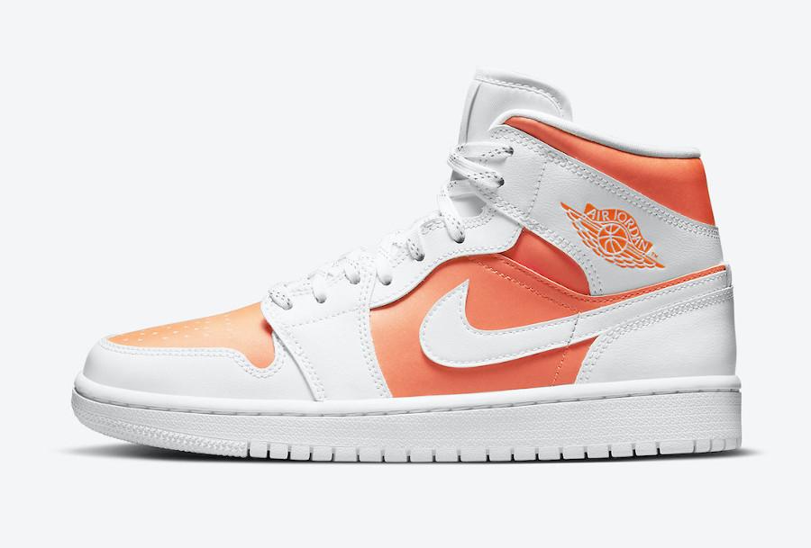 Air Jordan 1 Mid Special Edition blanche et orange (2)