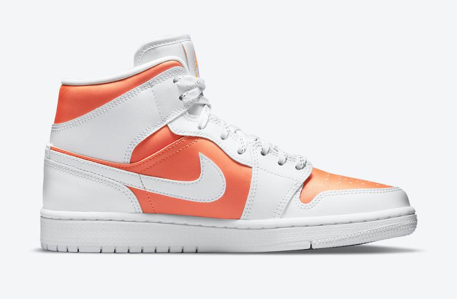 Air Jordan 1 Mid Special Edition blanche et orange (3)