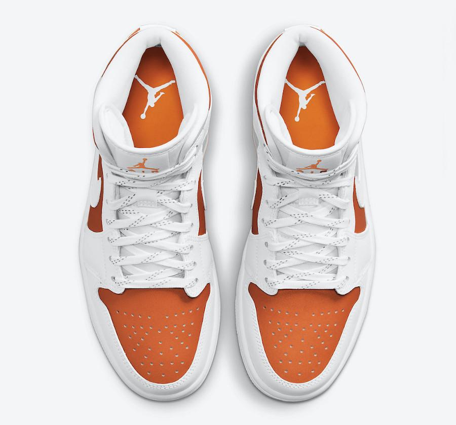 Air Jordan 1 Mid Special Edition blanche et orange (4)